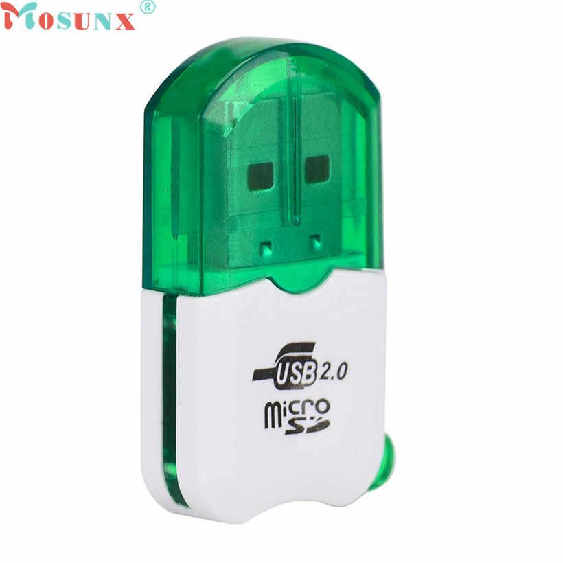 Mosunx Geavanceerde U schijf Top Afdeling Hoge Snelheid Mini USB 2.0 Micro SD TF T-Flash Memory Card Reader Adapter 1 PC