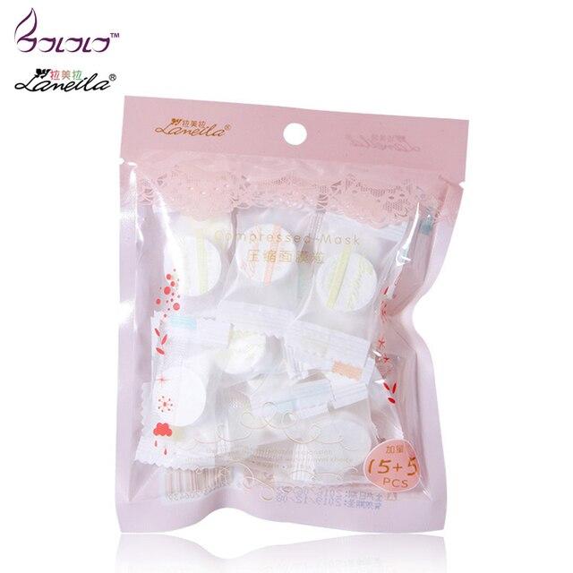 LAMEILA 20 pcs compress máscara facial clareamento acne pele macia hidratante filme papel pano máscara DIY ferramentas de beleza