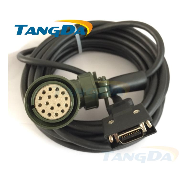 Tangda Servo motor code line MR-J2S series connection line MR-JHSCBL03 05 10M-L wire Cable 5 meters communication cable for servo drive mr cpcatcbl3m cable mr j2s a