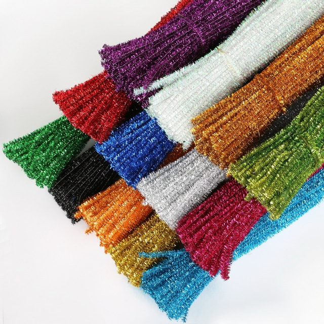 aliexpress com buy 100pcs 5mm chenille stems pipe cleaners kids
