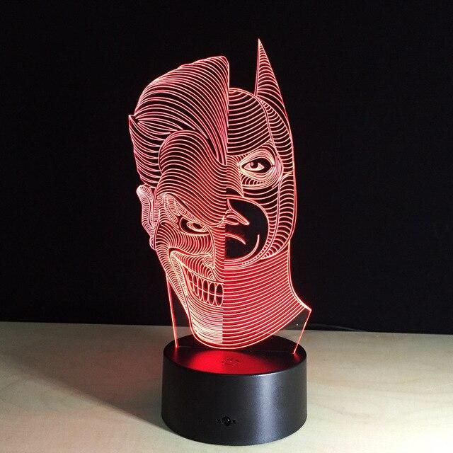 Упаковка из 40 шт. Аниме Два Лица Человек рамка Сенсорный экран 3D иллюзия Светодиодная вспышка света игрушка в коробке через DHL.