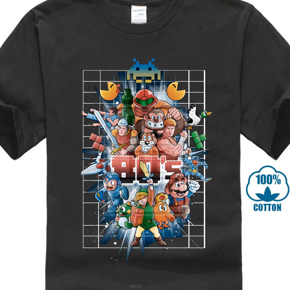 ac8e5db5f 80S Best Friends T-Shirt Men Game Collection T Shirt Mario Zelda Tetris  Pacman Superman