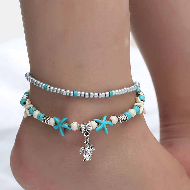 Vintage Anklets For Women Bohemian Ankle Bracelet Cheville Barefoot Sandals Pulseras Tobilleras Mujer Foot Jewelry
