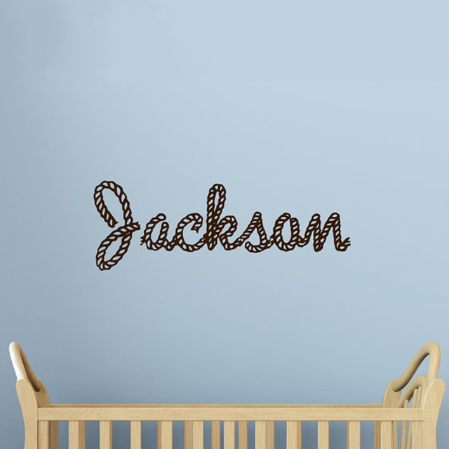 Personalized Rope Letters Children Wall Decals Monogram Kids Name ...