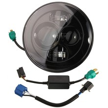 New 7 Inch Motorcycle Projector Daymaker Hi Lo LED Light Bulb Headlight For Harley