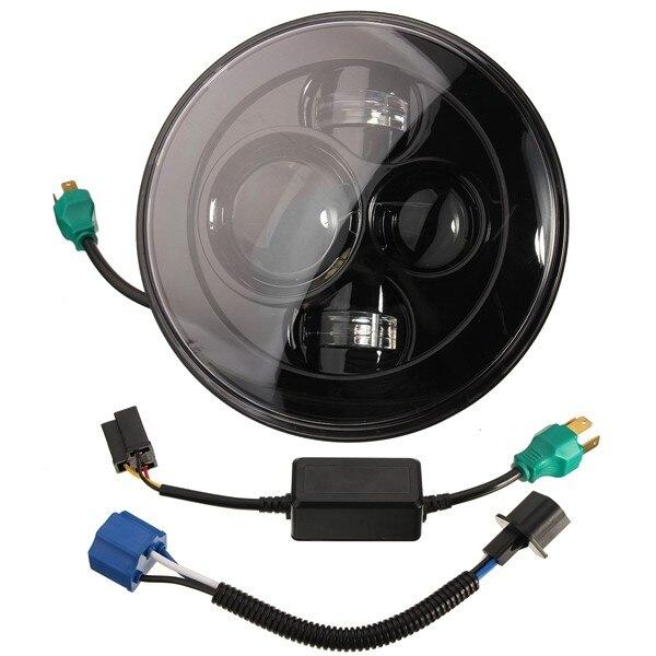 Prix pour Nouveau 7 Pouce Moto Projecteur Daymaker Salut/Lo Ampoule LED Phare Pour Harley