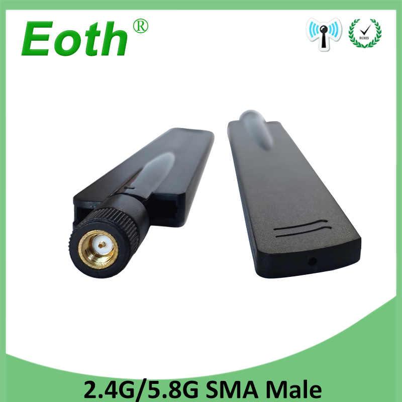 2,4 GHz 5,8 Ghz 5Ghz antena wifi 8dBi conector SMA macho de banda Dual 2,4G 5,8G 5G antena inalámbrica antena wifi