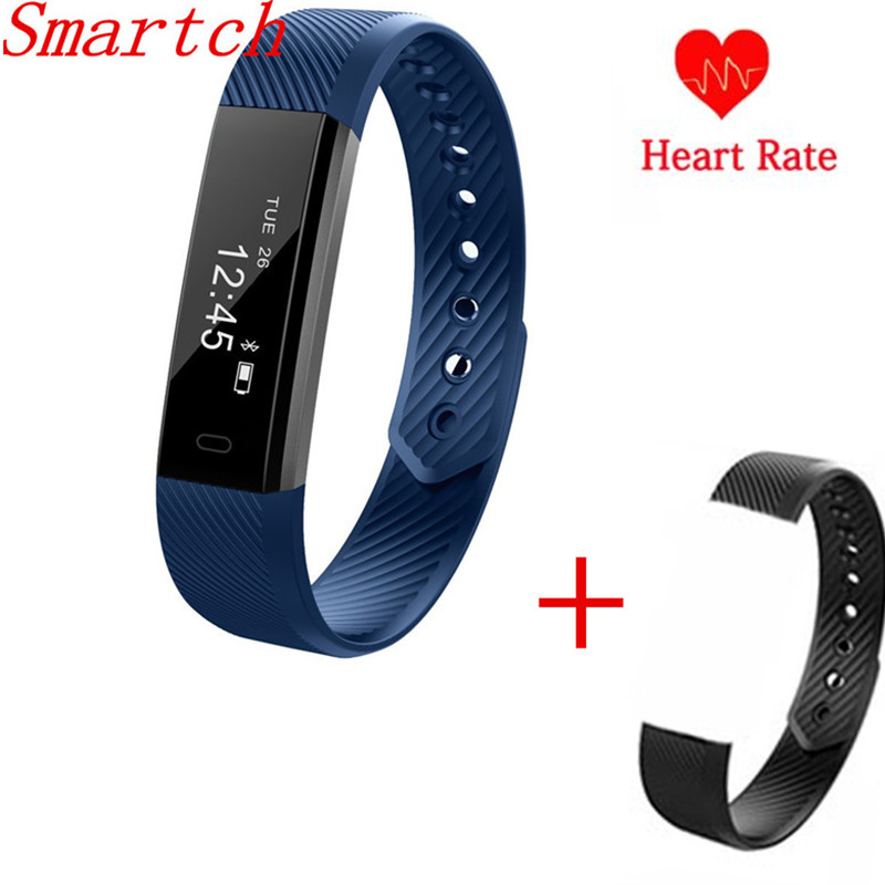 Smartch ID115 HR Smartband Heart Rate Monitor Smart Bracelet Band Fitness Activity Tracker Step Counter Wristband PK Mi Band 2 S