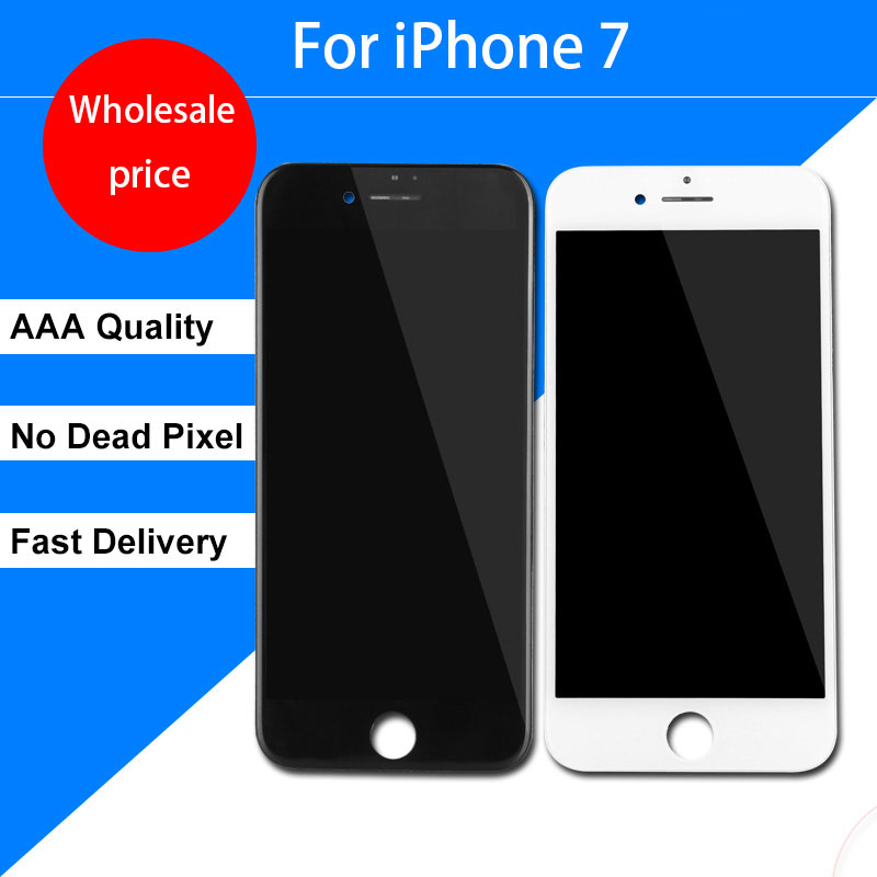 Wholesale Black White AAA++ LCD For iPhone 7 LCD Display 3D Touch Screen Digitizer Assembly Replacement for iphone 7 LCD Screen no dead pixel lcd for iphone 7 plus lcd display screen digitizer assembly replacement free shipping