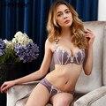 TAINY Novas Mulheres Roupa Interior V Profundo Push Up Sexy Bra Sets Breve