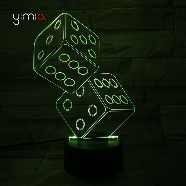 3D Motion Sensor Usb Led Night Light Lampe luminaria Dice Shai Zi