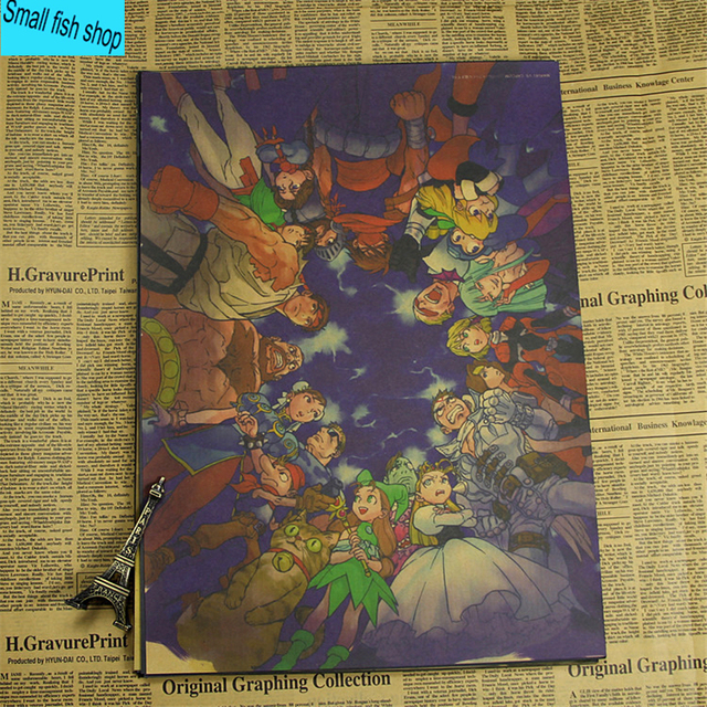 Mario Bros Decoration Kraft Game Poster