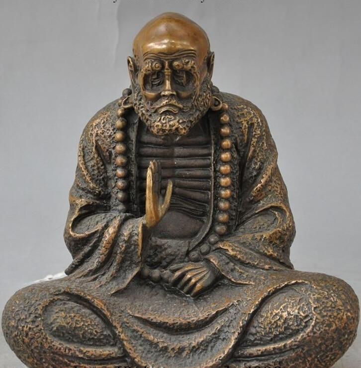 $old craft$ 8.6 chinese buddhism bronze arhat Damo Bodhidharma Dharma Buddha statue Sculpture (A0314)$old craft$ 8.6 chinese buddhism bronze arhat Damo Bodhidharma Dharma Buddha statue Sculpture (A0314)