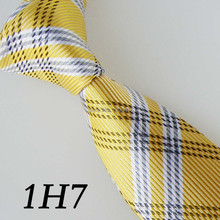 2017 Latest Style Border New Tie Gravatas Yellow/White Striped Design/Fashion/Boda/Casual Dress/Groom Bestman Necktie For Men
