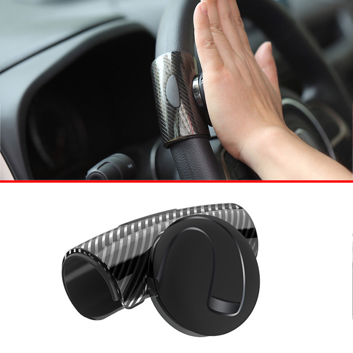 360 Rotatable Car Power Steering Wheel Knob Grilp Ball Booster Auto Stlying  Handle Aid Control Spinner Assist Accessory Parts