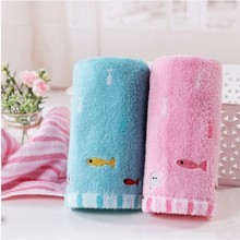 Cartoon Pure Cotton Solid color Small Towel Children Baby care Water Uptake