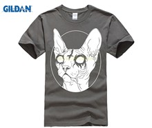 GILDAN mens summer fashion shirts streetwear Black Metal Sphynx Cat I Goth and Death Metal mens slim fit hip hop tee t shirt(China)
