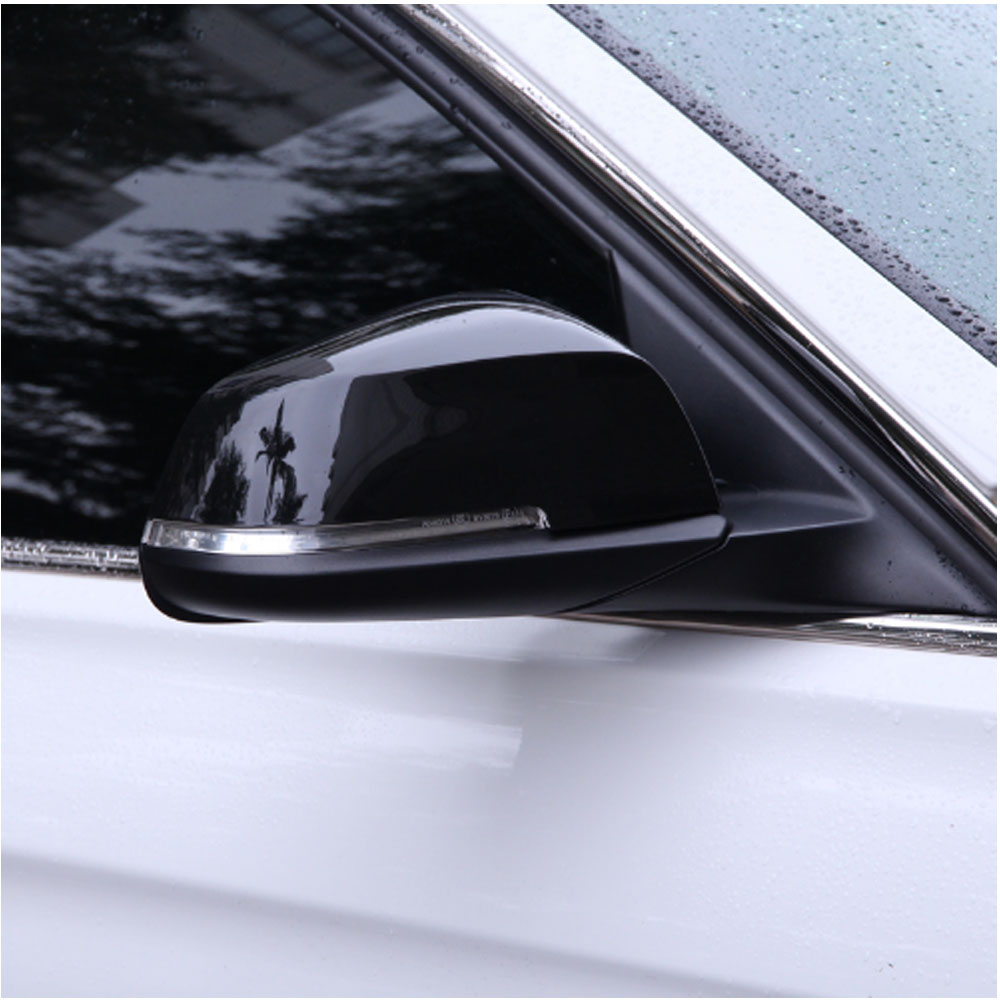 Black Rearview Side Wing Mirror Cover Trim For BMW 3 Series GT F30 F34 2013 2017 Car Accessories