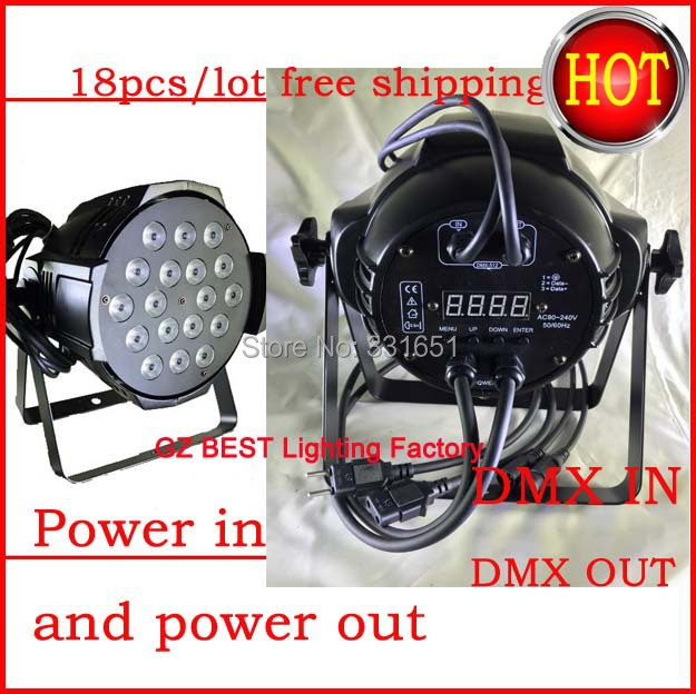 18pcs/lot best price double brackets + cast aluminum dmx 8 channels led par can 18x12w rgbw 4in1 18pcs lot best price double brackets cast aluminum dmx 8 channels led par can 18x12w rgbw 4in1