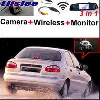 Liislee For Daewoo ZAZ Lanos Sens 3 in1 Rear View Special Camera + Wireless Receiver + Mirror Monitor Easy DIY Parking System