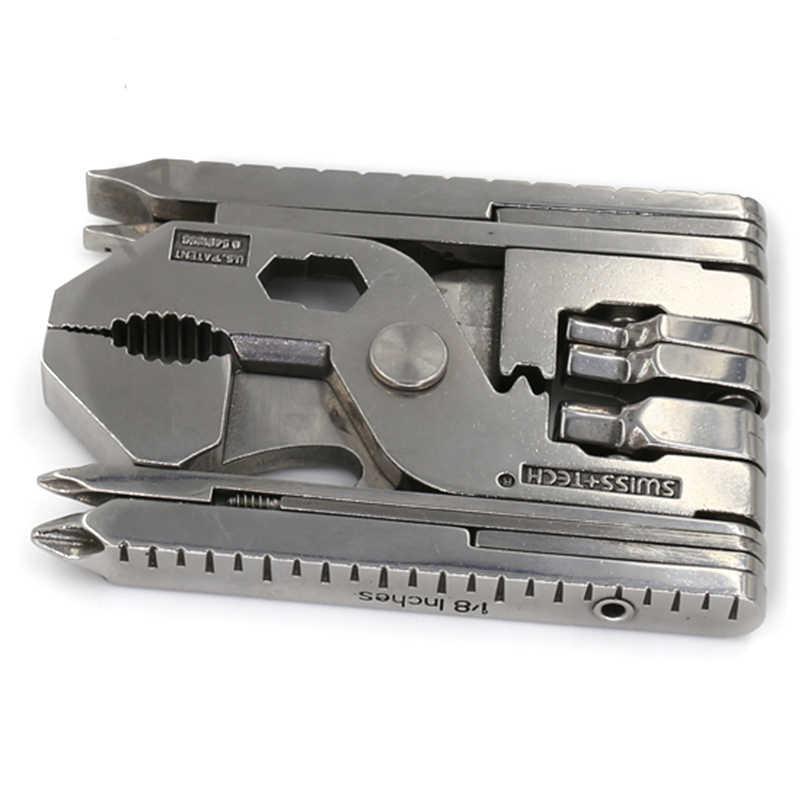 22-в-1 multi-карманный мини складной Клещи Портативный Открытый Ручной инструмент кусачки винт многофункциональный брелок для выживания