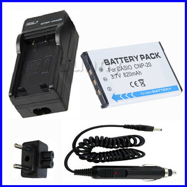 800 mAh Charger Replacement for Casio Exilim EX-Z77SR BattPit trade; New Digital Camera Battery