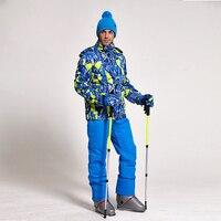 Лыжный костюм Для мужчин комплекты Супер Теплый Сгущает Водонепроницаемый ветрозащитный зимний костюмы для снежной погоды мужские наборы
