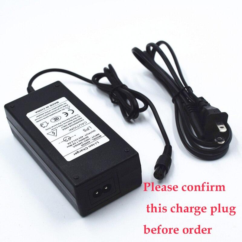 Prix pour 42 V 2A Universal Chargeur de Batterie UE/US Plug Power Supply pour 6.5/8/10 Pouces 2 roues Auto Équilibrage Scooter Électrique Hoverboard