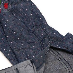 Image 5 - Fredd מרשל 2019 גברים מנוקדת ג ינס חולצה ארוך שרוול 100% כותנה באיכות גבוהה מזדמן חולצה זכר חברתי שמלת חולצות 3XL 120