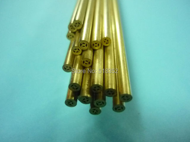 2.6mmx500mm Multihole Ziyang Brass Electrode Tube for EDM Drilling ...