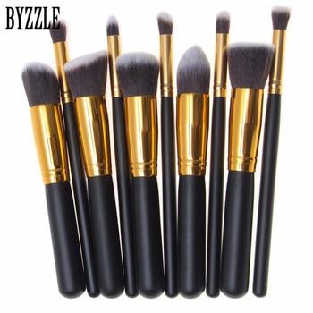 High Quality 10pcs/set  Pro Makeup Brushes Beauty Cosmetics Foundation Blending Blush Make up Brush tool Kit Set