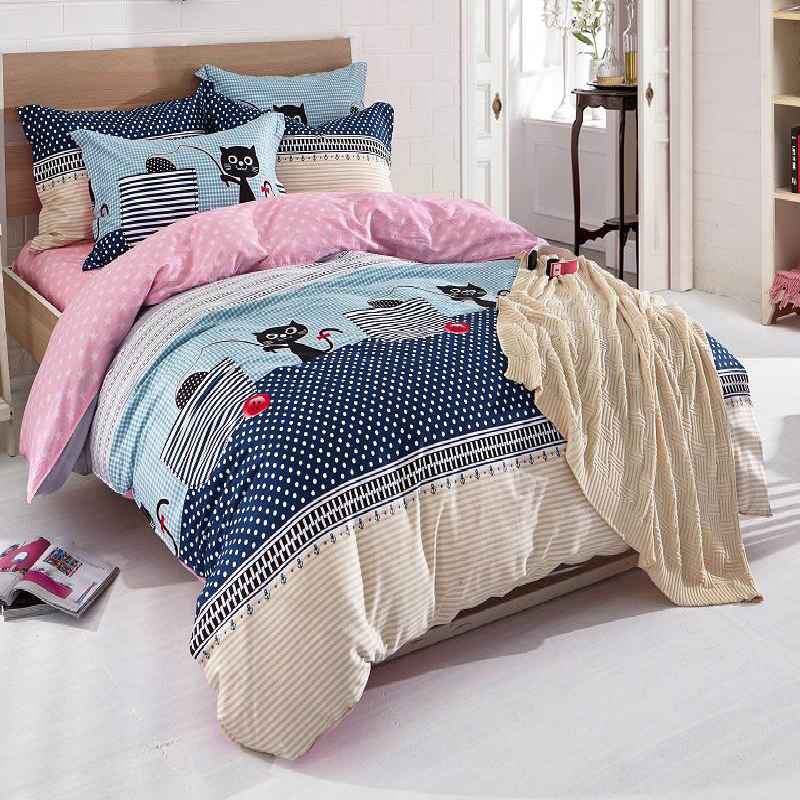 Hot Sale Home Textile 4pc Bedding Sets Size For Twin Full