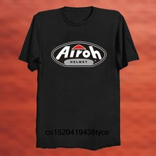 New Fashion Casual Men T Shirts Airoh Helmets Logo Printed Graphic Round Neck Cotton Tops Black(China)