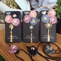 Free shipping New Luxury Fashion Brand 3D Daisy flower tassel back phone case cover For iPhone 6 6s 6plus 6s plus 7 7 plus