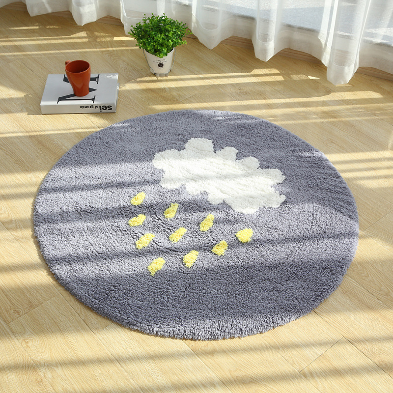 Tapis ronds de ménage de nuage pour la maison de salon tapis chaud de plancher de peluche tapis de salon de coton de chambre d'enfants tapis 70/90/120/150 cm