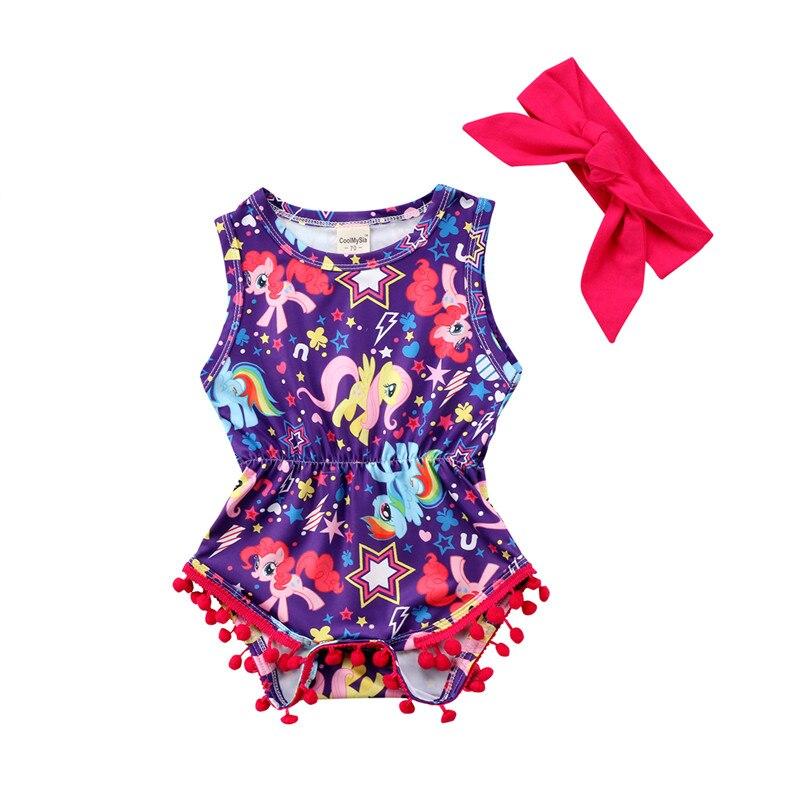2018 Fashion Newborn Baby Girl Clothes Unicorn Floral