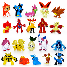 24 pcs Creative Cartoon Kawaii Anime Toys Baby Mini PVC Action Figure Models Birthday Party Game Gift Toys for Children Boy Girl