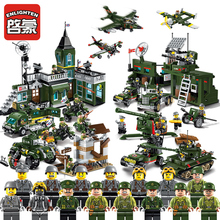 Enlighten World War 2 Compatible Legoes Headquarters Military a vehicle ww2 arme German Building Blocks Tank Kids Toys Bricks