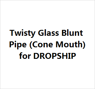 Mini Twisty Glass Blunt Pipe for Dropship