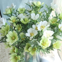 10 Pcs Photography Props Artificial Silk 5-head Cosmos Fake Flower Wedding Home Party Simulation Sik