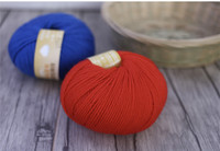 Free Shipping 300g(50g*6pcs) Kids 100% Wool Yarn Soft Warm Close Skin Yarn For Hand Knitting Scarf Sweater Mix Color B