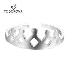 Купить с кэшбэком Todorova Queen Crown Rings Womans Jewellery Lovers Rings Bague Femme Bijoux Engagement Wedding Rings for Women Fashion Jewelry