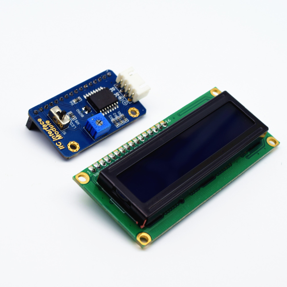 Adeept New IIC/I2C Interface with Blue Backlight LCD 1602 for Arduino Raspberry Pi ARM AVR DSP PIC Freeshipping headphones adeept new 4pcs digital push button keypad module for arduino raspberry pi arm avr dsp pic freeshipping headphones diy diykit