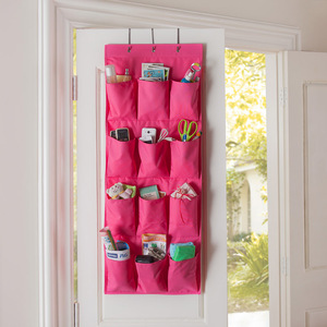2019 High Quality 12 Pockets Over Door Cloth Closet Space Storage Shoe Hanger Organizer Hanging