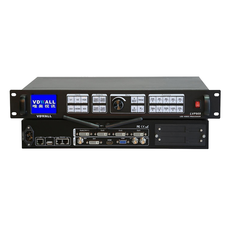 Vdwall Lvp909 Hd Video Processor 1 DVI In 4 DVI Out Max Support 3840x2400 Support Indoor And Outdoor Led Big Display