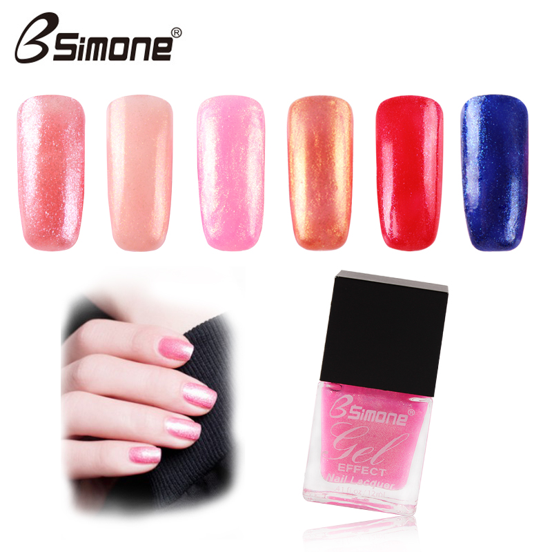 Nail polish set glitter water non peelable tearing fashion sun glue green light armor tasteless lasting in Nail Polish from Beauty Health