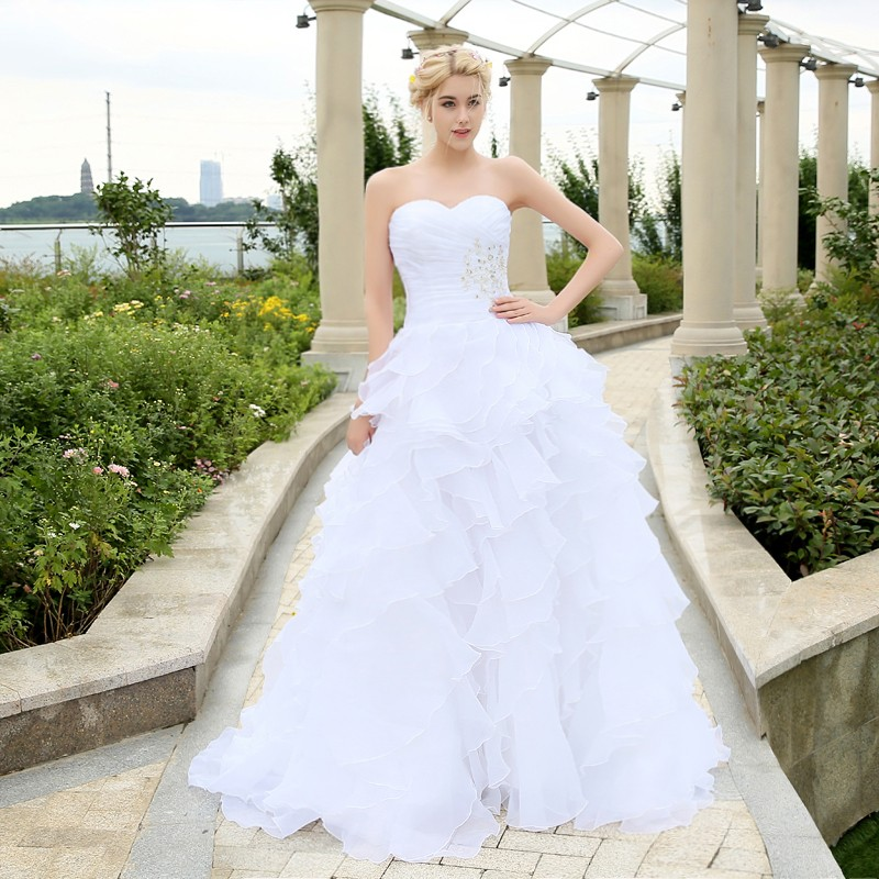 Wedding Dressing Gowns Personalised: Custom Made A Line Cheap Wedding Dress Sweetheart Floor