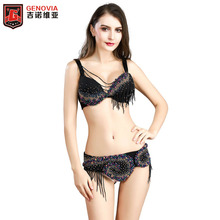 New Arrival High quality belly dance costume wear stage performance 2-piece suit Bead bra belt lady Samba Belly Dance Costume