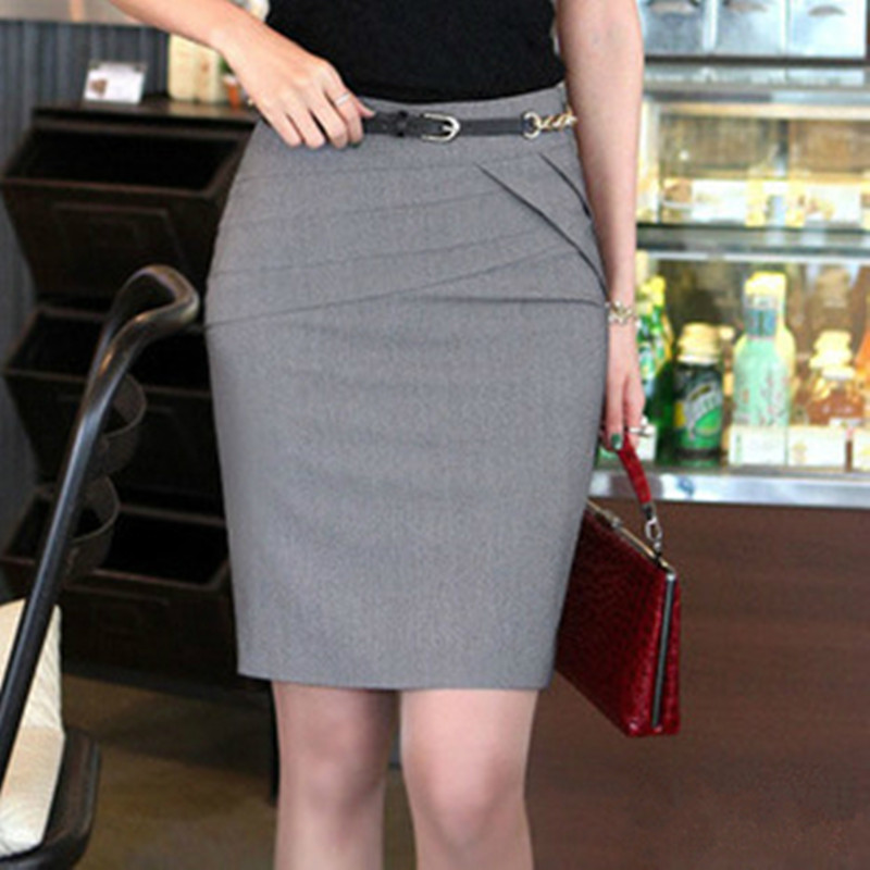 2015 Autumn Summer Women Career Short Formal Skirts Ladies Sexy ...
