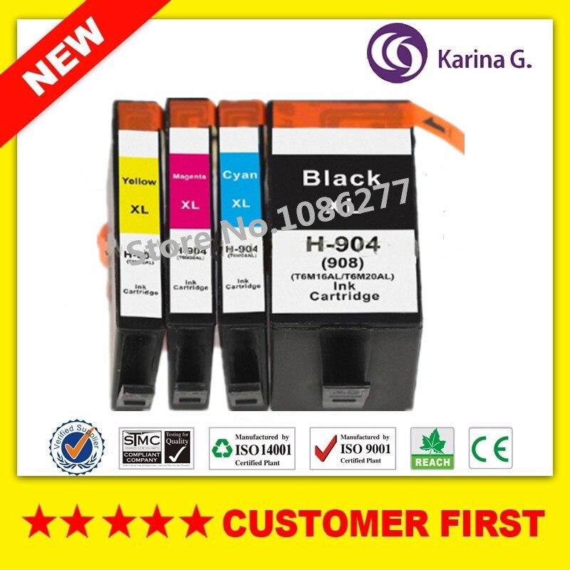 4 pcs cartucho de tinta Compatível para HP HP904 904 terno para HP OfficeJet Pro 6960 Pro 6970 Impressora